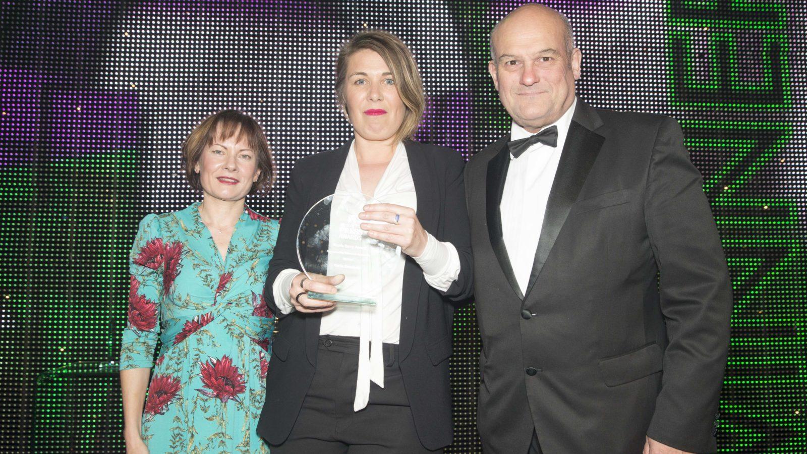 Nicola Barry Award Sponsored by Woman in Journalism  - @WIJ_Scotland Winner Karin Goodwin, The Ferret and Sunday National