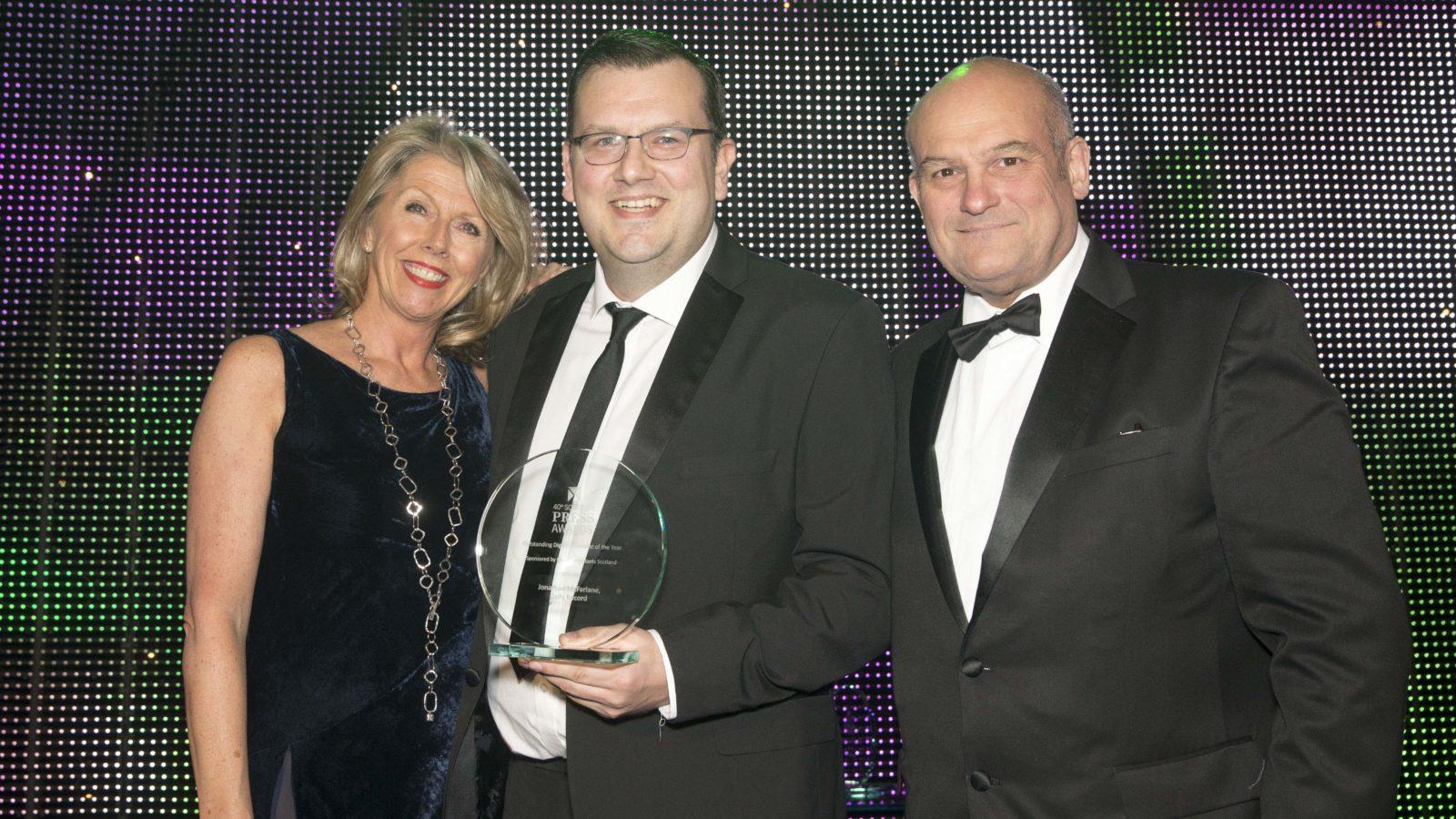 Outstanding Digital Journalist of the Year Winner Jonathan McFarlane, Daily Record