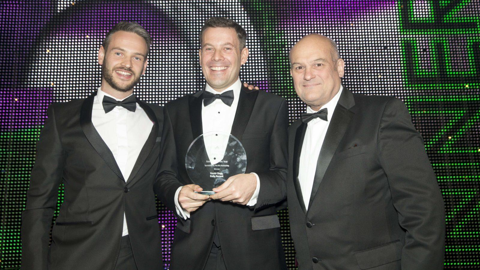Journalist of the Year Sponsored by The BIG Partnership - @BIGPartnership Winner David Clegg, Daily Record