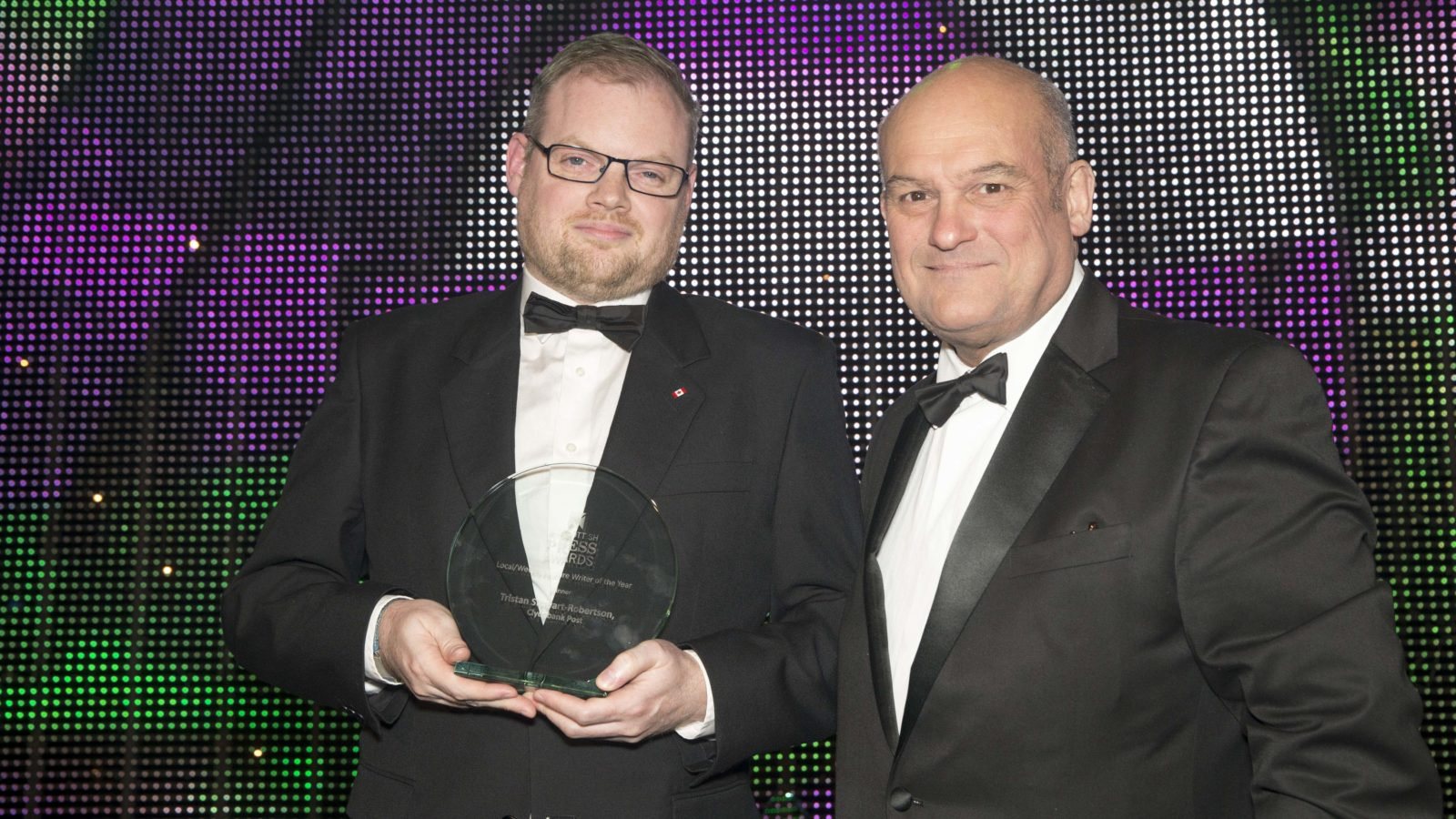 Local/Weekly Feature Writer of the Year Winner Tristan Stewart-Robertson, Clydebank Post