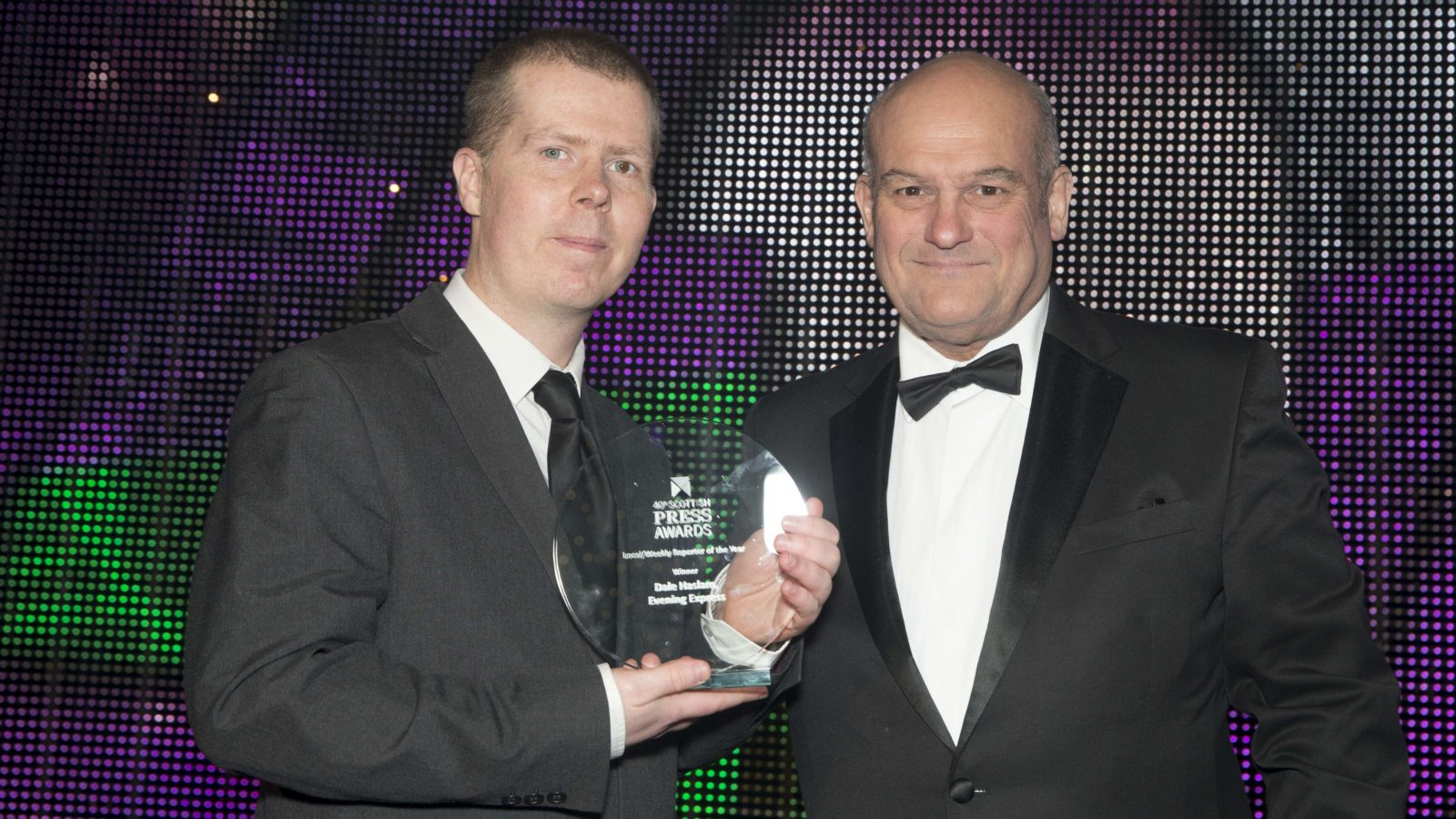 Local/Weekly Reporter of the Year Winner Dale Haslam, Evening Express