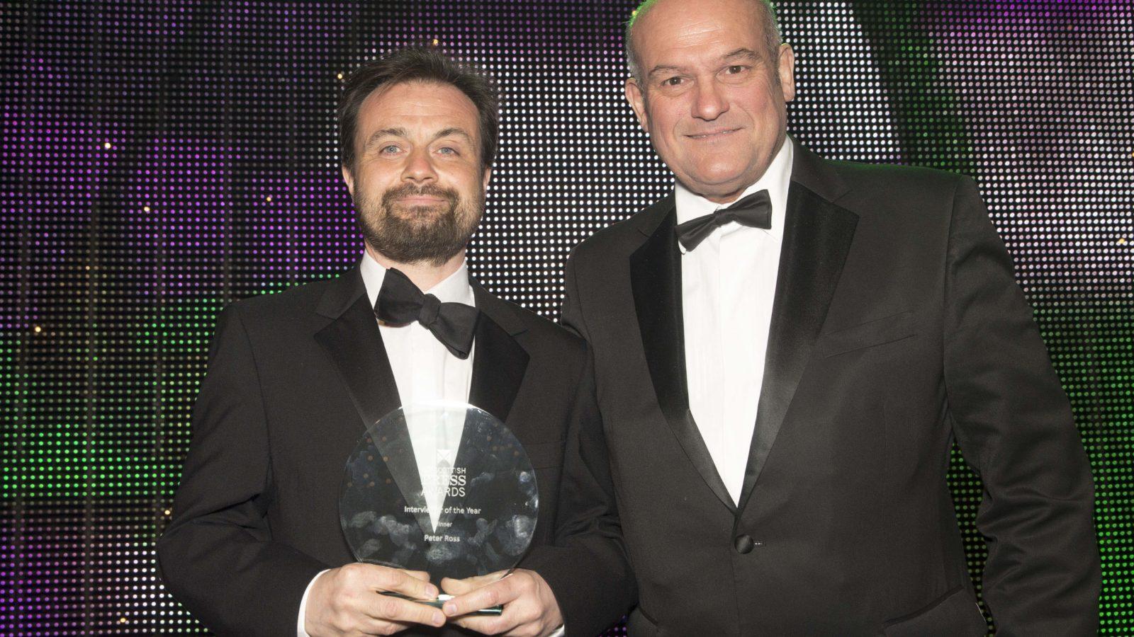 Interviewer of the Year Winner Peter Ross